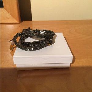 93a873244 Von Maur black rhinestone bracelets